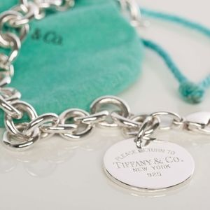 "Tiffany & Co ""Return to Tiffany""Round Tag Bracelet"